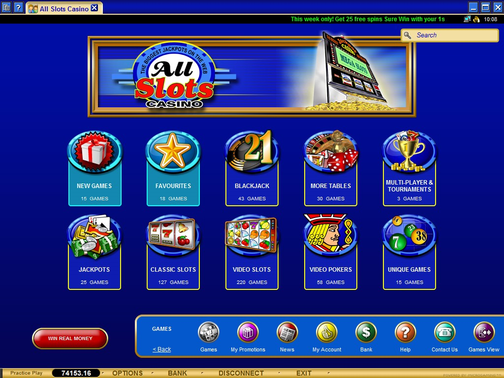 All Slots Casino Loyalty Points