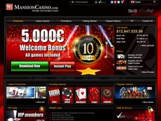 Casino Homepage Screenshot