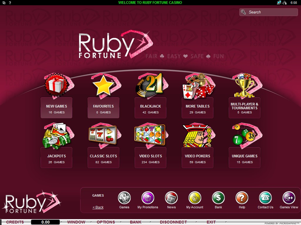 Ruby Fortune Casino Flash