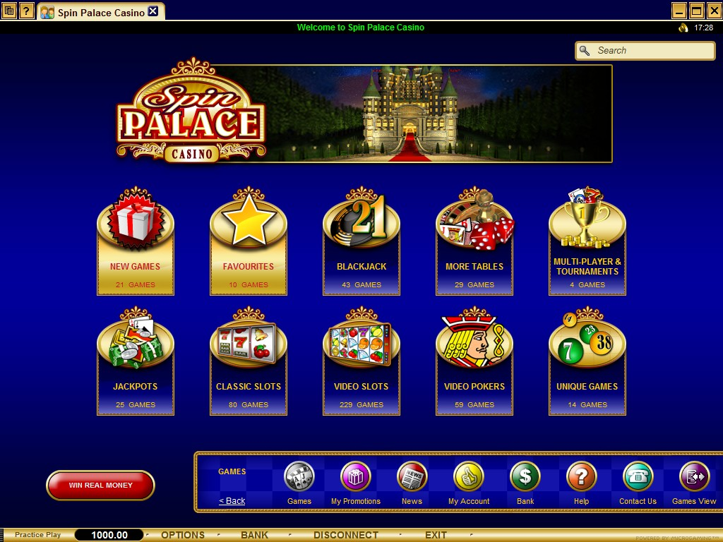 Spin Palace Mobile Flash Casino